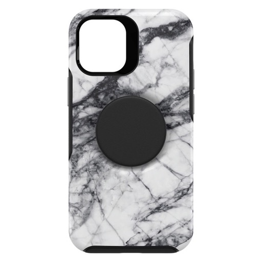 Otterbox Otter + Pop Symmetry Case with Swappable PopTop for iPhone 12 mini - White Marble