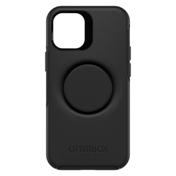 [77-65388] Otterbox Otter + Pop Symmetry Case with Swappable PopTop for iPhone 12 mini - Black