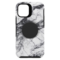 [77-65390] Otterbox Otter + Pop Symmetry Case with Swappable PopTop for iPhone 12 mini - White Marble