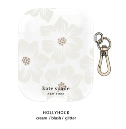 [KSAP-001-HHCCS] kate spade Flexible Case Hollyhock Floral Clear for Airpods