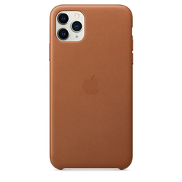 [MX0D2ZM/A] Apple iPhone 11 Pro Max Leather Case - Saddle Brown