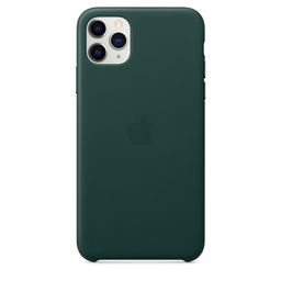 [MX0C2ZM/A] Apple iPhone 11 Pro Max Leather Case - Forest Green