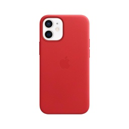[MHK73ZM/A] Apple iPhone 12 mini Leather Case with MagSafe - (PRODUCT)RED